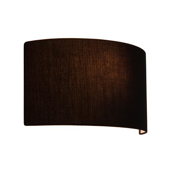 Lima bathroom wall light shade fabric black mr resistor lighting lima bathroom wall light shade fabric black aloadofball Gallery