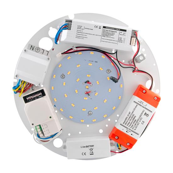 LED Emergency Gear Tray 17W Maintained / Motion Sensor / Dimming