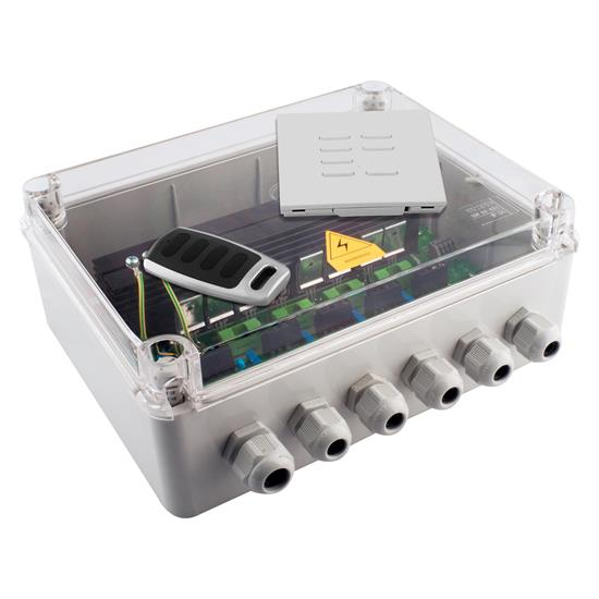 Wise Scene Box Kit includes Keypad and Key Fob Clear Lid 240V 4x500W