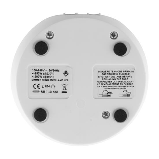 In-Line Slide Dimmer and Push Button Switch 240V White 25W