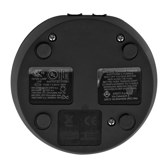 In-Line Slide Dimmer and Push Button Switch 240V Black 25W