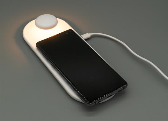 LED Touch Light, Wireless Phone Charger 10W 9V