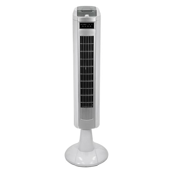 Tower Fan with Timer and Remote Control White / Grey Plastic