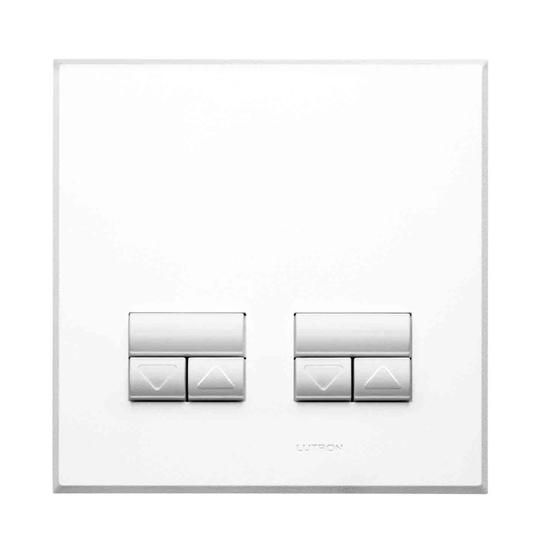 Rania Slave 2 Gang Dimmer White 2x250W