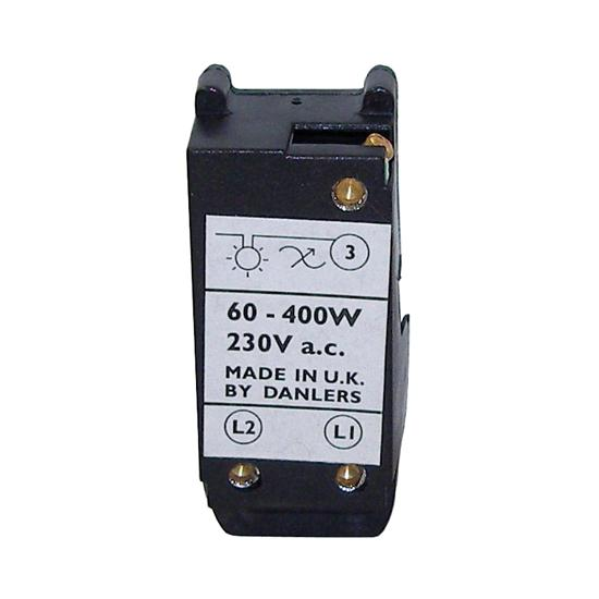 Resistive Load 2 Way Dimmer Module Black 400W