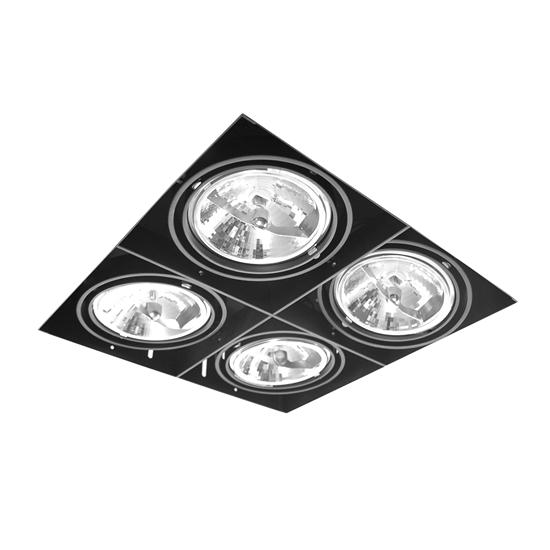 Grid Trimless Quadruple AR111 12V 4 x 75W Black