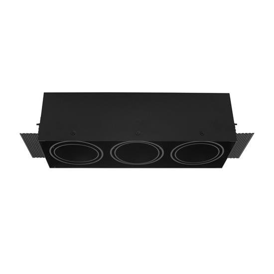 Grid Trimless Triple AR70 12V 3 x 50W Black