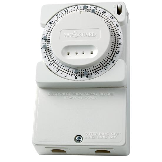 24 Hour Immersion Heater Time Controller White