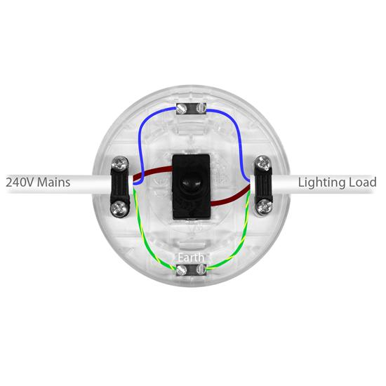 3 Core In-Line Foot Switch 6A Clear