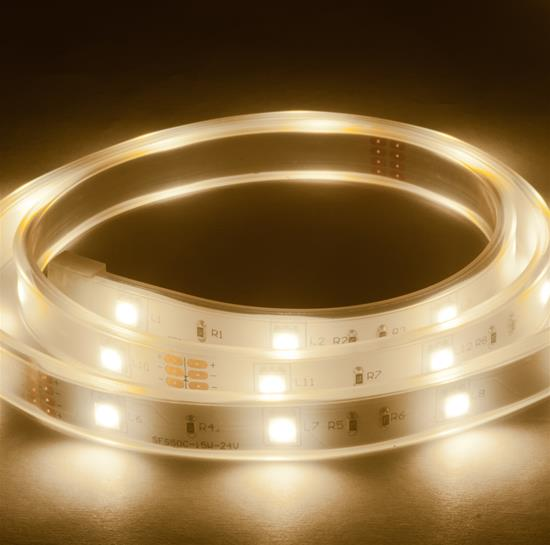 Waterproof LED Tape 1m (30xSMD 5050 LEDs/m) 24V 8W 3400K Warm White