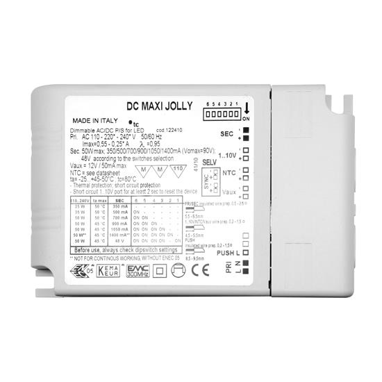 1-10V Dimmable LED Driver (Constant Current & Constant Voltage) White 50W