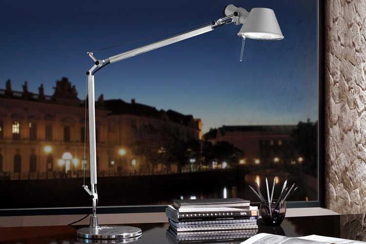 Tolomeo Micro Arm & Base Silver 40W Example