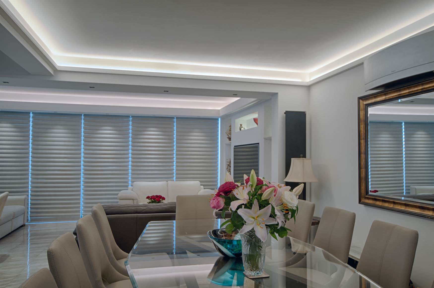Dining Room with LED tape in coving