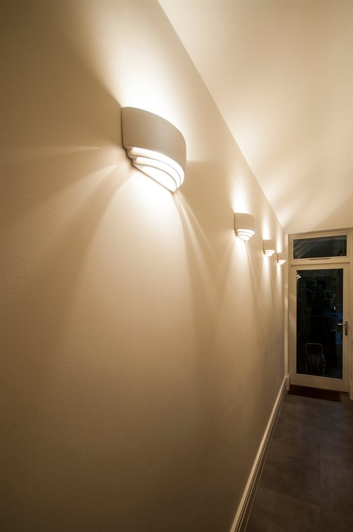 Changing Light Corridor With Rooms